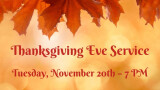 Thanksgiving Service coming up on November 20th!