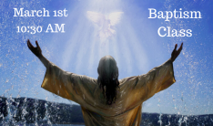 Baptism Class - March 1