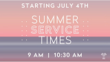 Our Sunday Summer Schedule is in effect!
